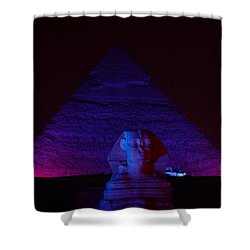 Cheops In Blue Shower Curtain