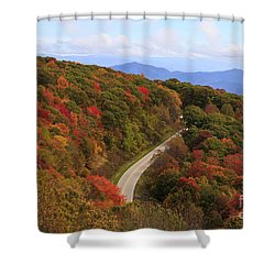 Cherohala Skyway In Nc Shower Curtain