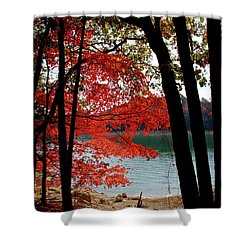 Shower Curtain featuring the photograph Cherokee Lake Color by Douglas Stucky