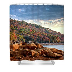 Shower Curtain featuring the photograph Cherokee Lake Color II by Douglas Stucky