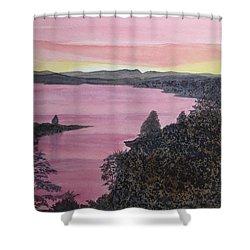 Cherokee Lake Sunset Shower Curtain