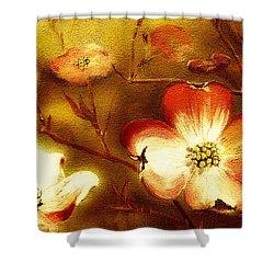 Cherokee Rose Dogwood - Glow Shower Curtain by Jan Dappen