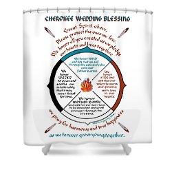 Cherokee Wedding Blessing Shower Curtain