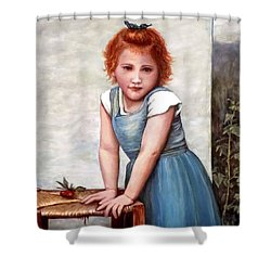 Cherries Shower Curtain by Judy Kirouac