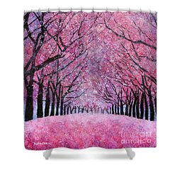 Shower Curtain featuring the painting Cherry Blast by Hailey E Herrera