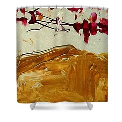 Cherry Blosoms II Shower Curtain by Luz Elena Aponte