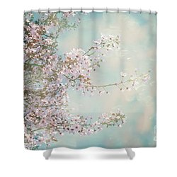 Shower Curtain featuring the photograph Cherry Blossom Dreams by Linda Lees