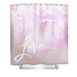 Cherry Blossom Valentine Shower Curtain