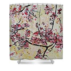Cherry Blossoms 201751 Shower Curtain by Alyse Radenovic