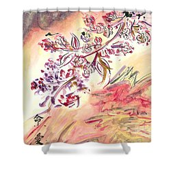 Cherry Blossoms Shower Curtain by Monica Mitchell