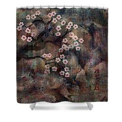 Cherry Blossoms Shower Curtain by Rachel Christine Nowicki