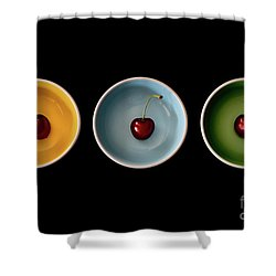 Cherry Color Block Experiment Shower Curtain