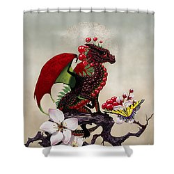 Shower Curtain featuring the digital art Cherry Dragon by Stanley Morrison