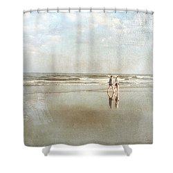 Cherry Grove Beach Walk Shower Curtain