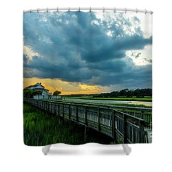 Cherry Grove Channel Marsh Shower Curtain