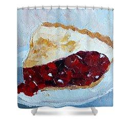 Cherry Pi Shower Curtain