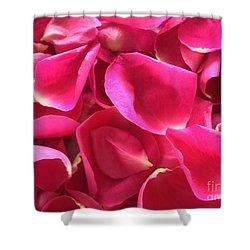 Cherry Pink Rose Petals Shower Curtain