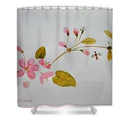 Cherry Pink Shower Curtain