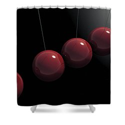 Cherry Red Knockers Shower Curtain by Richard Rizzo