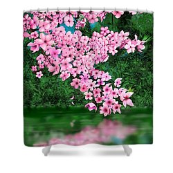 Cherry Reflection Shower Curtain
