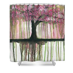Fruit Tree #3 Shower Curtain by Rebecca Childs