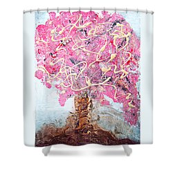 Cherry Tree By Colleen Ranney Shower Curtain