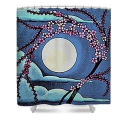 Cherry Whip Moon Shower Curtain