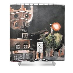 Chertsey At Night 2 Shower Curtain by Carole Robins