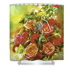 Cheryls Bouquet Shower Curtain by Ken Frischkorn