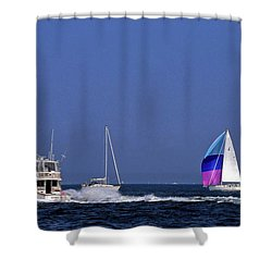 Chesapeake Bay Action Shower Curtain by Sally Weigand