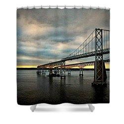 Chesapeake Bay Bridge At Twilight Shower Curtain