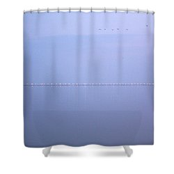 Shower Curtain featuring the photograph Chesapeake Bay Bridge Tunnel At Twilight by Suzanne Powers