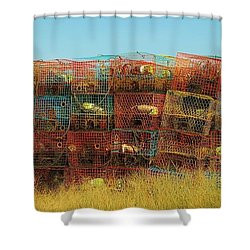 Chesapeake Bay Crabbing Shower Curtain