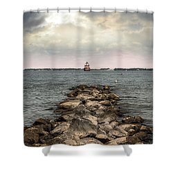 Chesapeake Bay Lighthouse Shower Curtain