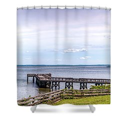 Chesapeake Bay Maryland Panorama Shower Curtain