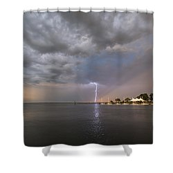 Chesapeake Bay Rainbow Lighting Shower Curtain