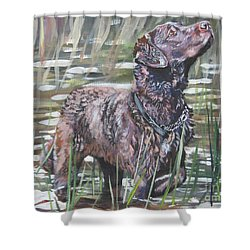Chesapeake Bay Retriever Bird Dog Shower Curtain by Lee Ann Shepard