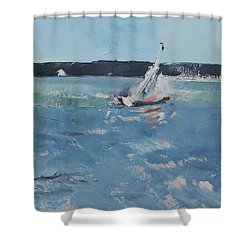 Chesapeake Bay Sailing Shower Curtain