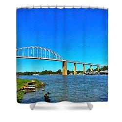 Chesapeake City Bridge  Shower Curtain