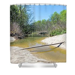 Shower Curtain featuring the photograph Chesapeake Tributary by Charles Kraus