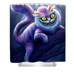 Cheshire Cat Shower Curtain by Anthony Christou