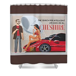 Cheshire Poster Shower Curtain