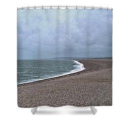 Chesil Beach November 2013 Shower Curtain