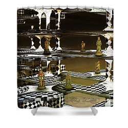 Chess Anyone Shower Curtain by Melissa Messick