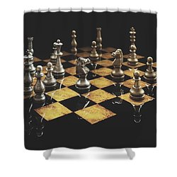 Chess The Art Game Shower Curtain