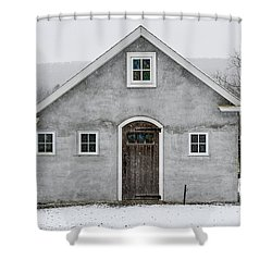 Chester County In The Snow Shower Curtain