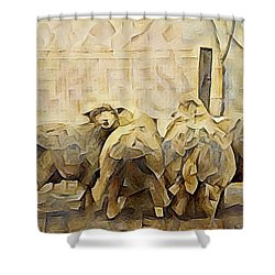 Chester County Sheep Shower Curtain