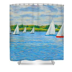 Chester Races Off Freda's Peninsula Shower Curtain
