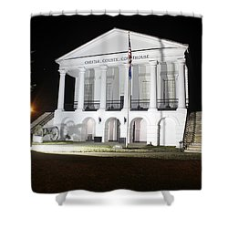 Chester South Carolina Court House Night 1 Shower Curtain