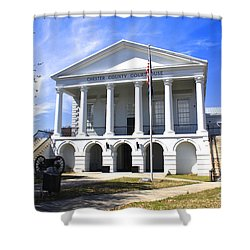 Chester South Carolina Court House Day 1 Shower Curtain